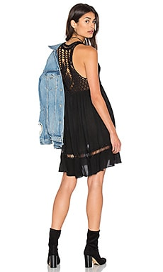 Feeling Free Crochet Dress in Black