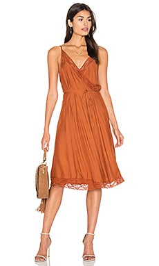 Canyon Wrap Dress in Brick