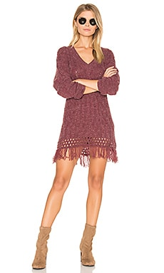 Melrose Cable Knit Tunic in Dark Berry