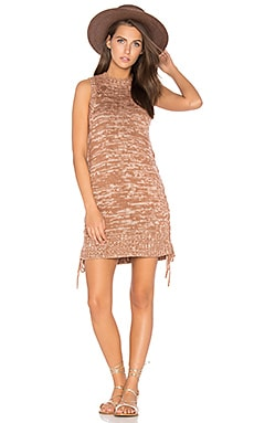 Lyrics Knit Tunic Dress in Mocha