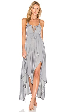 Night Hour Maxi Dress in Silver