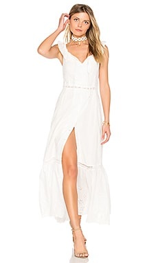 Sky Might Fall Midi Dress in Off White