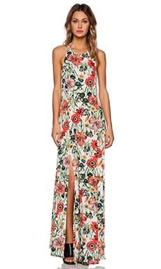 Somedays Lovin Bella Floral Split Maxi Dress in Multi
