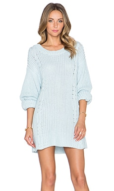 Somedays Lovin Ralphie Sweater Dress in Blue