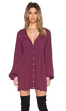 Somedays Lovin Whiplash Smock Dress in Wine