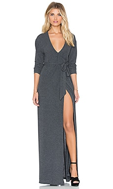 Somedays Lovin Diner Rib Wrap Dress in Charcoal