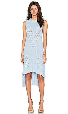 Overload Rib Dress in Ice Blue