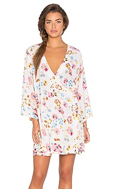 Somedays Lovin Sophia Floral Cape Dress in Multi