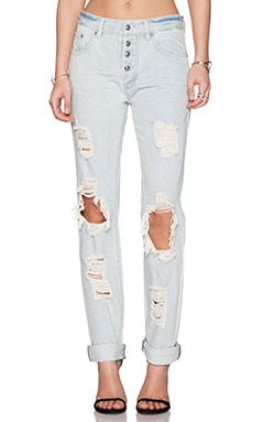 Somedays Lovin Moku Rigid Denim Jean in Blue