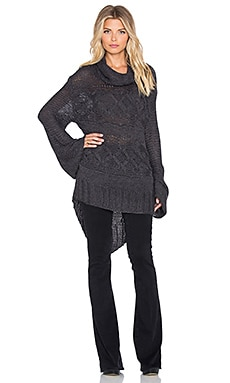 Somedays Lovin Dusty Cable Knit Sweater in Charcoal