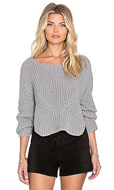 Somedays Lovin Shelter Knit Sweater in Slate Grey