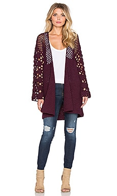 Somedays Lovin True Heart Cardigan in Wine