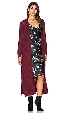 Daria Knit Cardigan in Berry