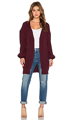 Somedays Lovin Strabo Chunky Cardigan in Wine