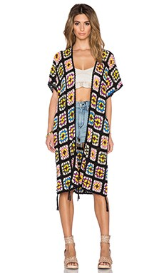 Somedays Lovin Magic Crochet Kimono in Multi