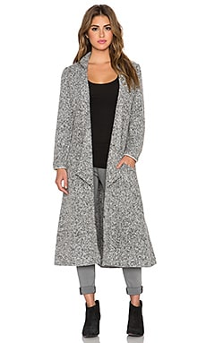 Somedays Lovin Shrubs Wool Duster Coat in Grey Marle