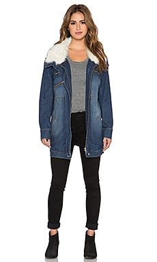 Somedays Lovin Rex Stretch Denim Anorak in Denim