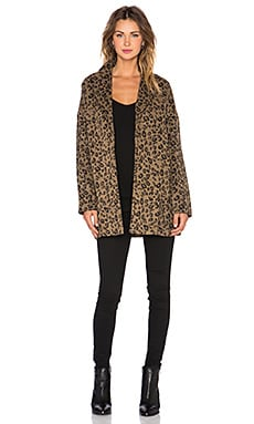 Danger Wool Leopard Coat in Multi