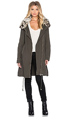 Somedays Lovin None The Wiser Parka with Faux Fur Collar in Khaki