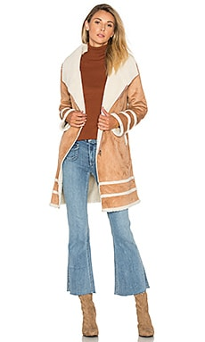 Meet Me in Utah Coat with Faux Sherpa Lining in Oatmeal