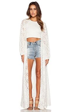 Somedays Lovin Bare Bones Lace Kimono in Cream