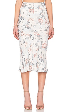 Sundown Floral Midi Skirt