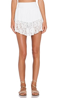 Somedays Lovin Be Pleasant Lace Skirt in White