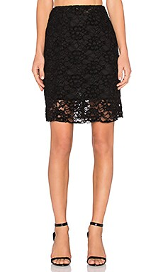 Somedays Lovin Lucid Lace Midi Skirt in Black