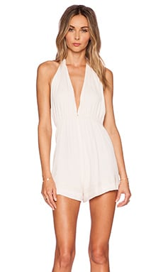 Somedays Lovin Blessings Halter Playsuit in Light Pink