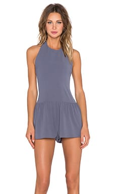 Somedays Lovin Wind Chaser Halter Playsuit in Slate