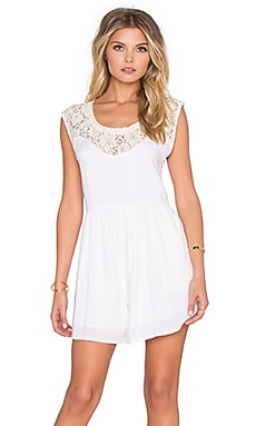 Rosie Lace Romper in Off White