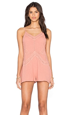 Somedays Lovin Saikata Cotton Romper in Rust