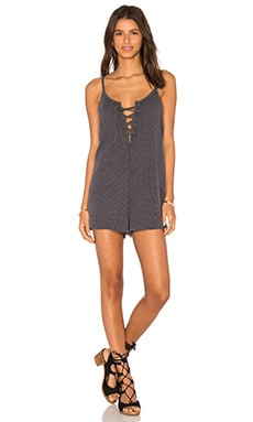 Somedays Lovin Painter Waffle Romper in Navy