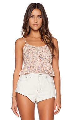 SECRETS FLORAL CROP TOP