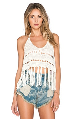 Somedays Lovin Stevie Crochet Top in White
