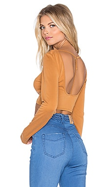 Somedays Lovin Blessed Crop Top in Rust