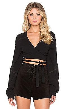Somedays Lovin Lakeside Wrap Blouse in Black
