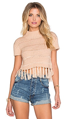 Somedays Lovin High Hopes Knit Top in Latte