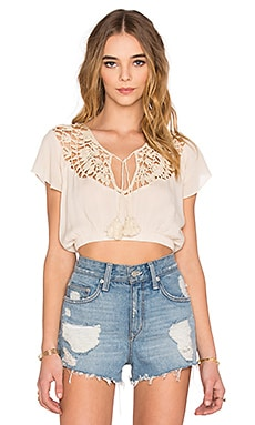 Somedays Lovin Stones Crochet Blouse in Natural
