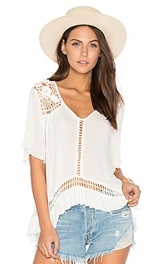 Sun Sway Crochet Blouse in Cream