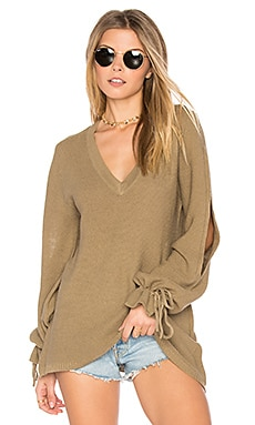Gypsum Knit Sweater Top en Verde Salvia