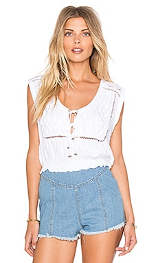Somedays Lovin Lagoon Cutwork Top in White