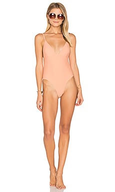 Sun Beat Down One Piece Swimsuit in Apricot