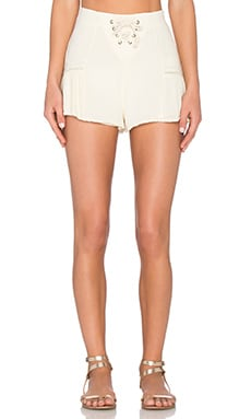 Windswept Lace Up Short