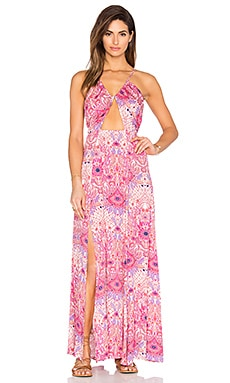 Paisley Heat Maxi Split Dress