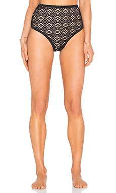 Somedays Lovin Lighthouse Black Lace Bikini Bottom in Black