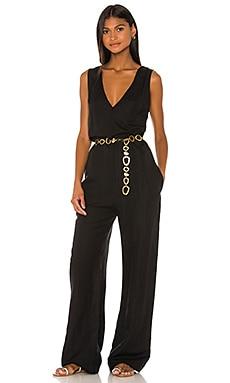 Linen Jumpsuit Solid & Striped $122