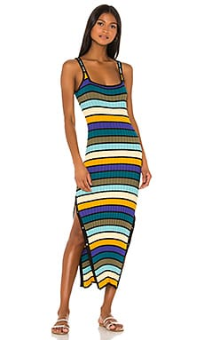 ROBE MI-LONGUE KNIT Solid & Striped $198