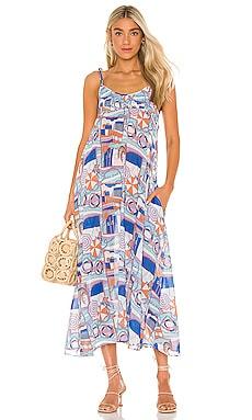 Riley Dress Solid & Striped $258