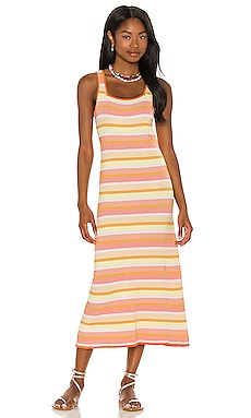 The Kimberly Dress Solid & Striped $228